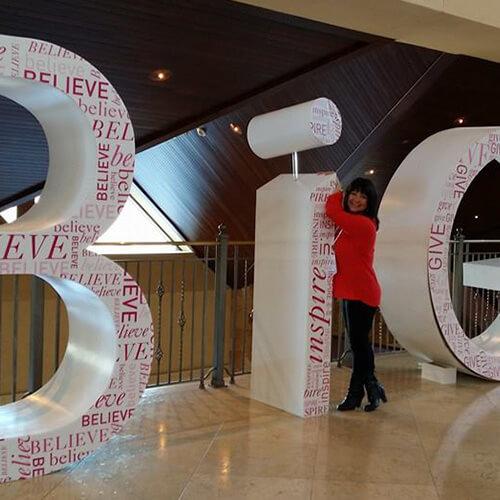 Rose Tafoya Posing on B I G Letters